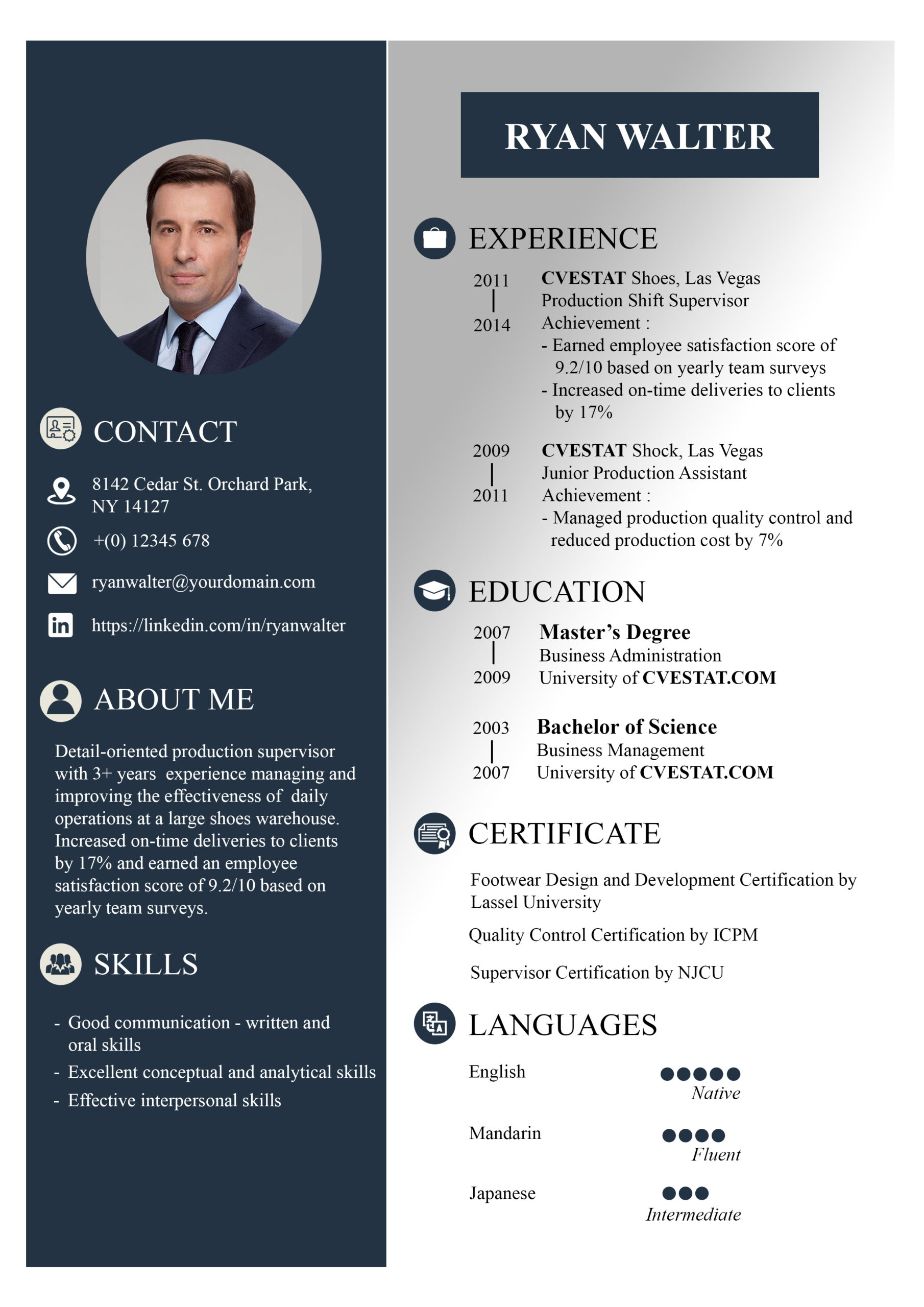 awesome example of resume simple