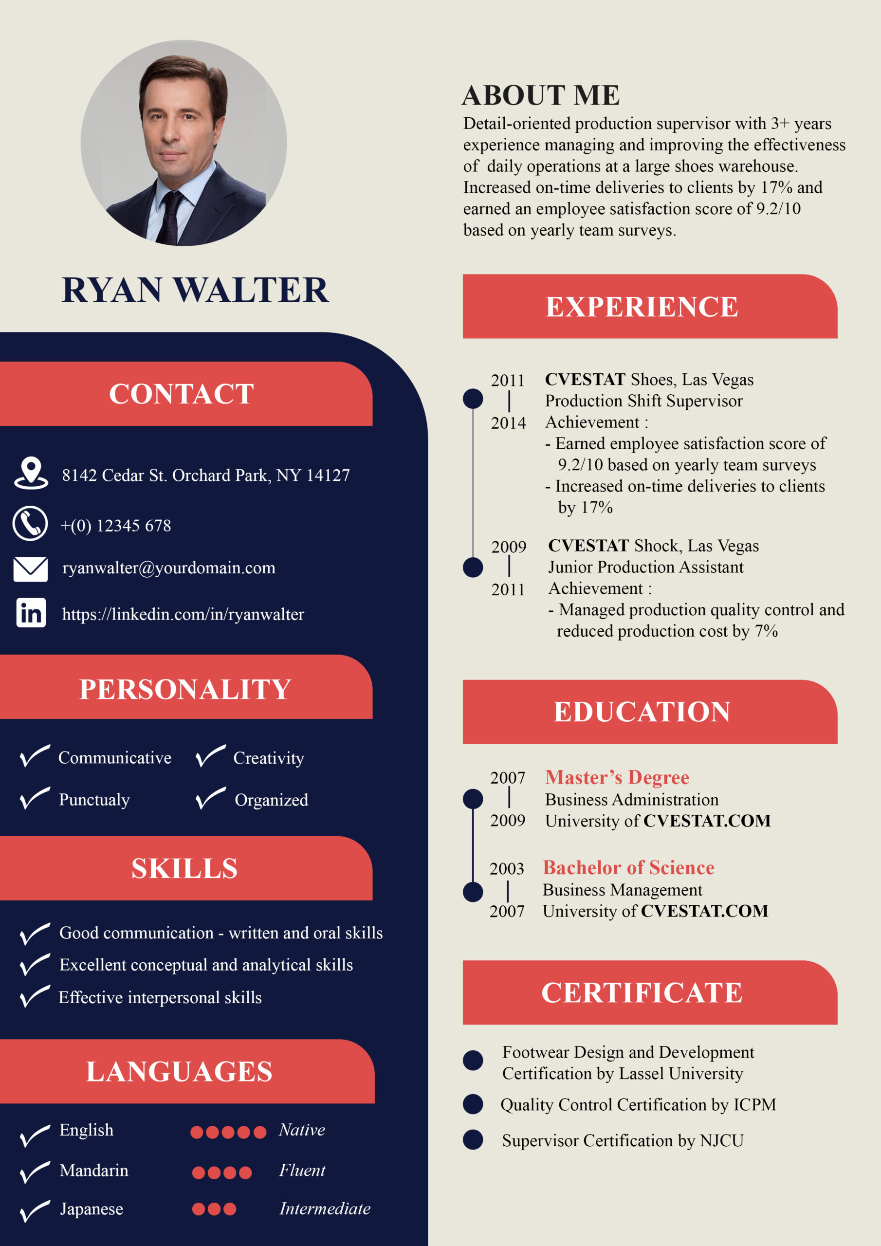 example of good resume format names and profile summaries