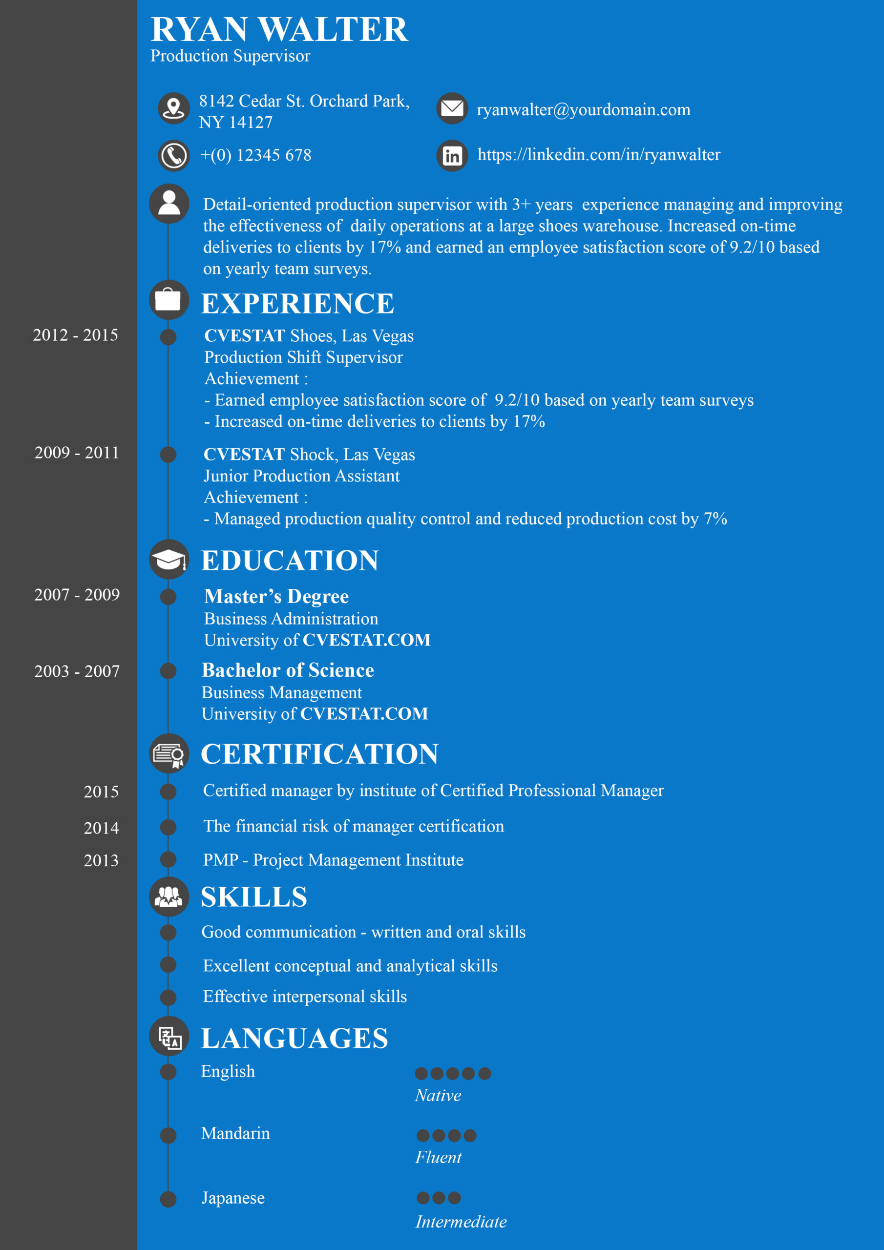 excellent perfect resume example pdf